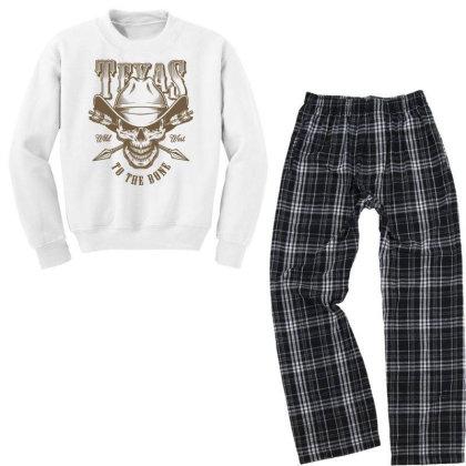 Texas Wild West Usa Youth Sweatshirt Pajama Set Designed By Designisfun