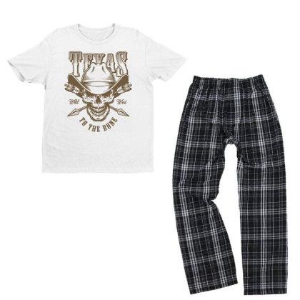 Texas Wild West Usa Youth T-shirt Pajama Set Designed By Designisfun