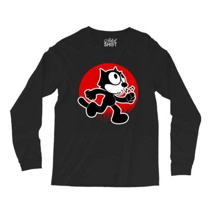 Funny Cat Adventure Long Sleeve Shirts Designed By 4905 Designer