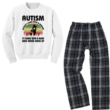 Autism Doesn't Come With A Manual Youth Sweatshirt Pajama Set Designed By Rosdiana Tees