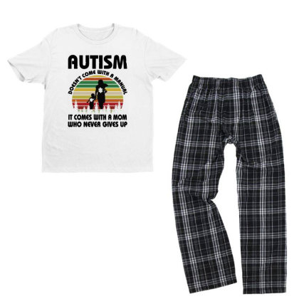 Autism Doesn't Come With A Manual Youth T-shirt Pajama Set Designed By Rosdiana Tees