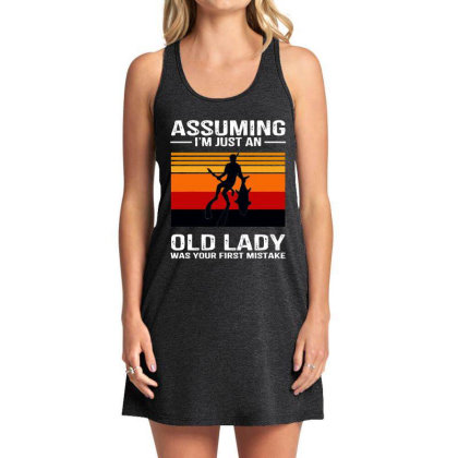 I Just An Old Lady Was Your First Mistake Tank Dress Designed By Alpha Art