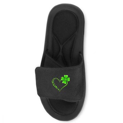 Autism Heart Shamrock Slide Sandal Designed By Rosdiana Tees