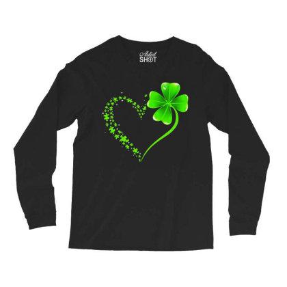 Autism Heart Shamrock Long Sleeve Shirts Designed By Rosdiana Tees
