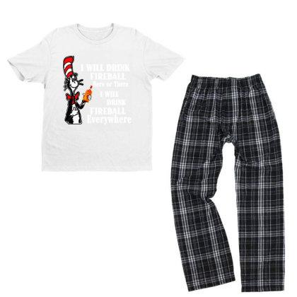 I Will Drink Fireball Everywhere Youth T-shirt Pajama Set Designed By Alpha Art
