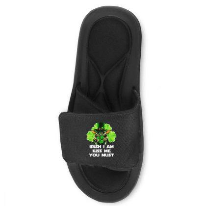 Baby Yoda Hug Shamrock Irish Slide Sandal Designed By Rosdiana Tees