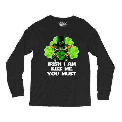Baby Yoda Hug Shamrock Irish Long Sleeve Shirts Designed By Rosdiana Tees