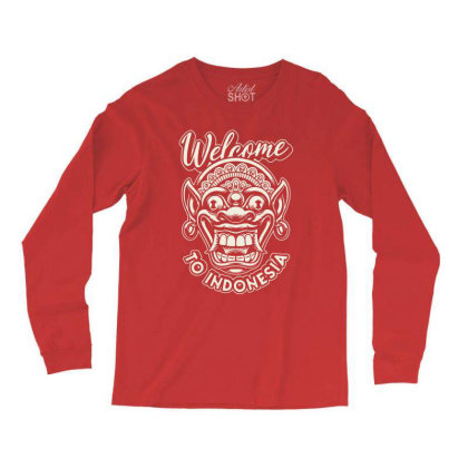 Indonesia Mask Asia Adventure Long Sleeve Shirts Designed By Designisfun