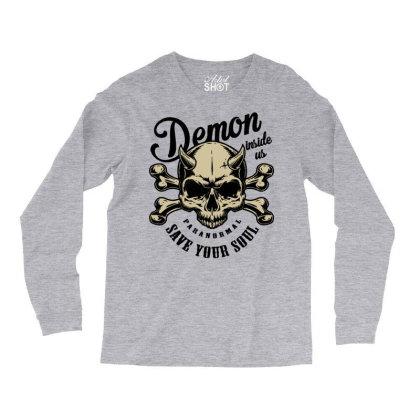 Skull Bones Soul Long Sleeve Shirts Designed By Designisfun