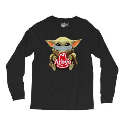 Baby Yoda Mask Hug Long Sleeve Shirts Designed By Rosdiana Tees
