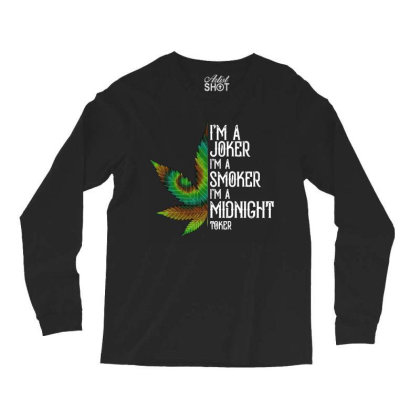 I'm A Midnight Toker Weed Long Sleeve Shirts Designed By Alpha Art