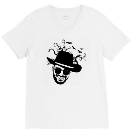 Haunt On My Mind V-neck Tee Designed By L4l4pow