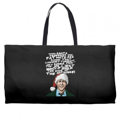 Clark Griswold Christmas Tee Weekender Totes Designed By Tabby