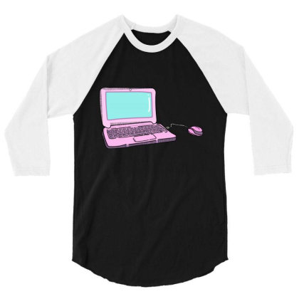 Laptop 3/4 Sleeve Shirt Designed By Lauraopep