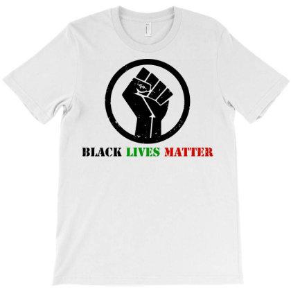 Black Lives Matter  Power Fist T-shirt Designed By Hot Trends