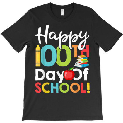 Happy 100th Day Of School Shirt For Teacher Or Child Happy Day T-shirt Designed By Ryan2204