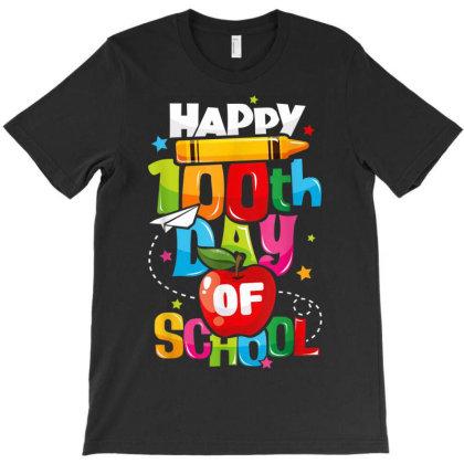 100th Day Of School Shirt For Teachers Kids Happy 100 Days T Shirt T-shirt Designed By Ryan2204