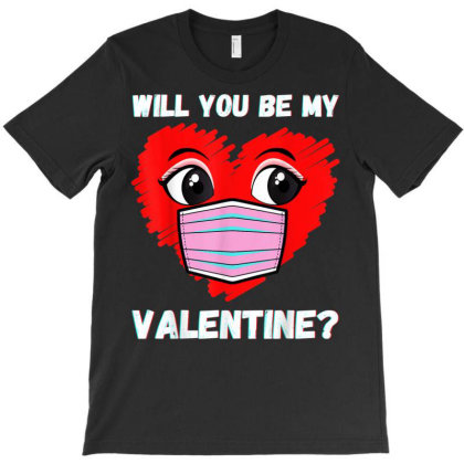Valentines Heart Mask Love T-shirt Designed By Koopshawneen