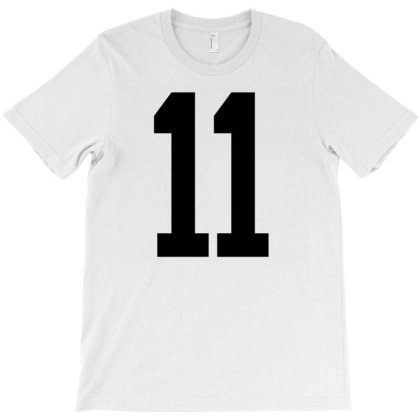11 White Number 11 Sports Fan Jersey T-shirt Designed By Koopshawneen