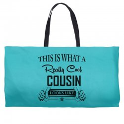 This Is What A Really Cool Cousin Looks Like Weekender Totes | Artistshot