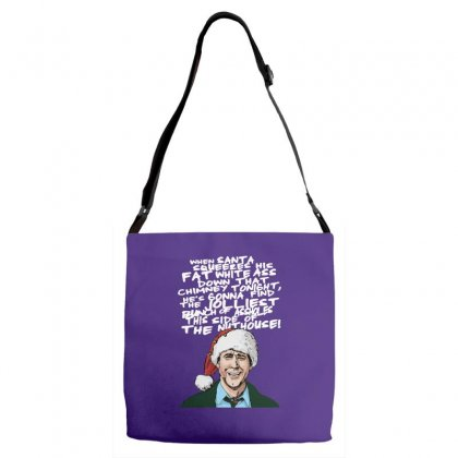 Clark Griswold Christmas Tee Adjustable Strap Totes Designed By Tabby
