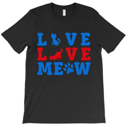 Love Love Meow T-shirt Designed By Funtee