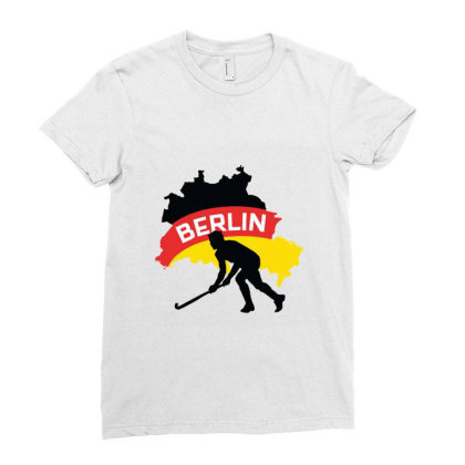 Germany Ice Hockey Ladies Fitted T-shirt Designed By Cloudystars