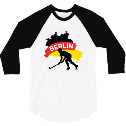 Germany Ice Hockey 3/4 Sleeve Shirt Designed By Cloudystars