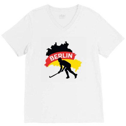 Germany Ice Hockey V-neck Tee Designed By Cloudystars