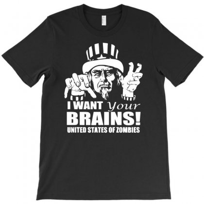 Zombie Uncle Sam T-shirt Designed By Gematees