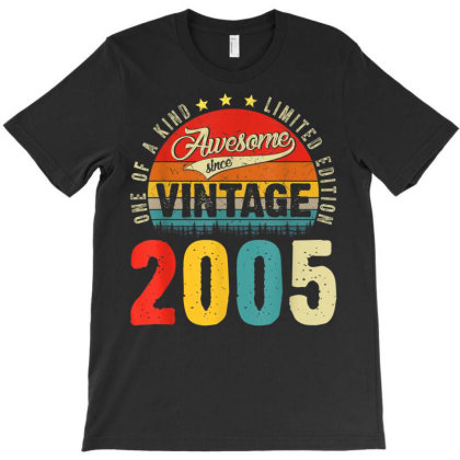 16 Years Old Distressed 2005 T-shirt Designed By Koopshawneen
