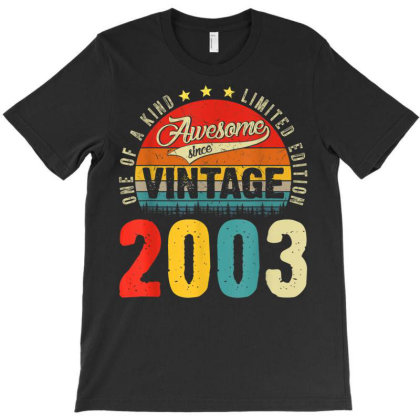 18 Years Old Distressed 2003 T-shirt Designed By Koopshawneen