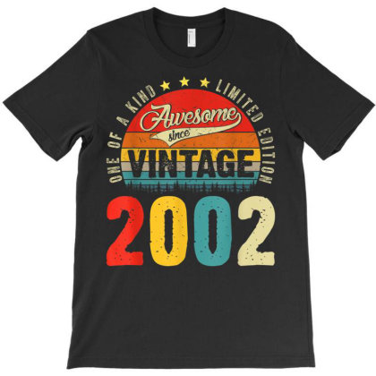 19 Years Old Distressed 2002 T-shirt Designed By Koopshawneen