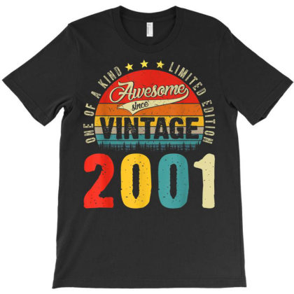20 Years Old Distressed 2001 T-shirt Designed By Koopshawneen