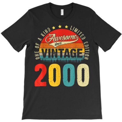 21 Years Old Distressed 2000 T-shirt Designed By Koopshawneen