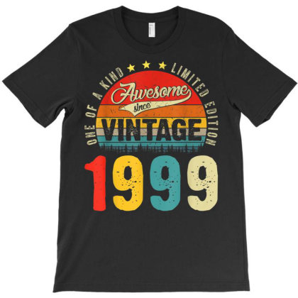 22 Years Old Distressed 1999 T-shirt Designed By Koopshawneen
