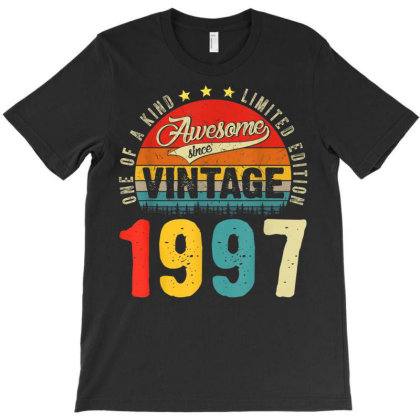 24 Years Old Distressed 1997 T-shirt Designed By Koopshawneen