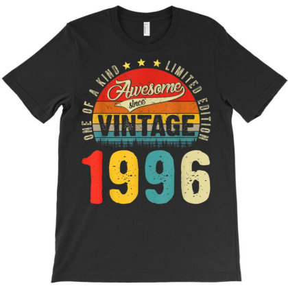 25 Years Old Distressed 1996 T-shirt Designed By Koopshawneen