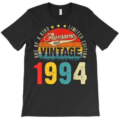 27 Years Old Distressed 1994 T-shirt Designed By Koopshawneen
