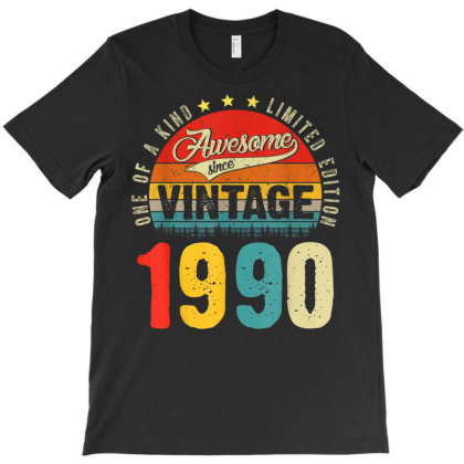 31 Years Old Distressed 1990 T-shirt Designed By Koopshawneen