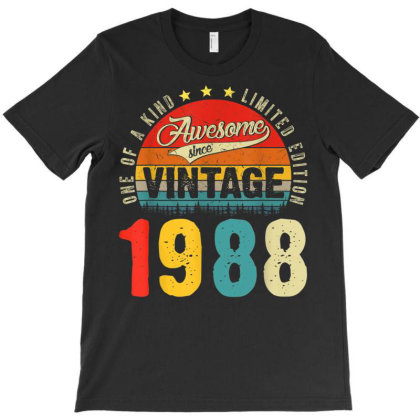 33 Years Old Distressed 1988 T-shirt Designed By Koopshawneen