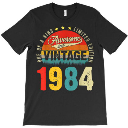 37 Years Old Distressed 1984 T-shirt Designed By Koopshawneen