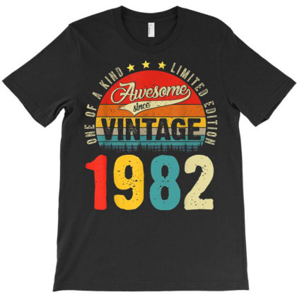 39 Years Old Distressed 1982 T-shirt Designed By Koopshawneen