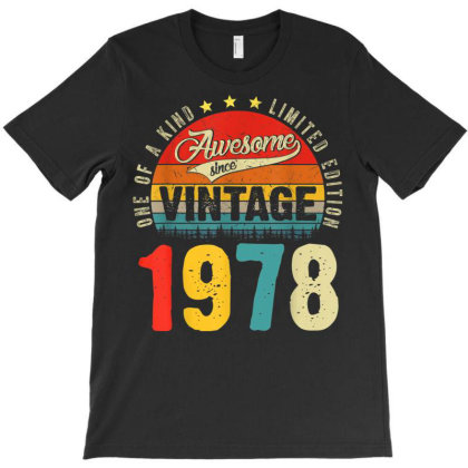 43 Years Old Distressed 1978 T-shirt Designed By Koopshawneen