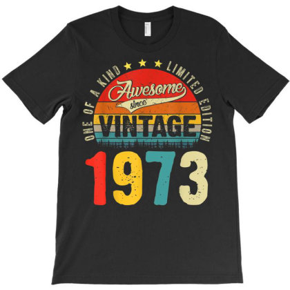 48 Years Old Distressed 1973 T-shirt Designed By Koopshawneen