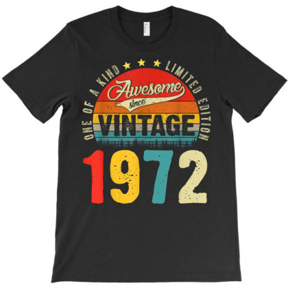 49 Years Old Distressed 1972 T-shirt Designed By Koopshawneen