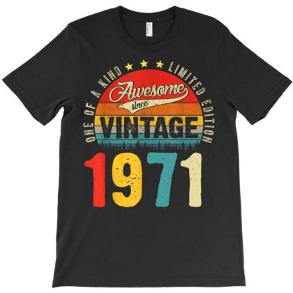 50 Years Old Distressed 1971 T-shirt Designed By Koopshawneen