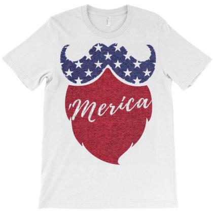 American Beard T-shirt Designed By Koopshawneen