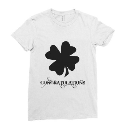 Congratulations Ladies Fitted T-shirt Designed By Artmaker79