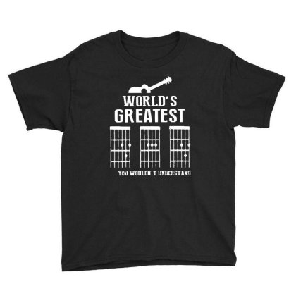 World's Greatest  Guitar Chord Vintage Youth Tee Designed By Sie Sie